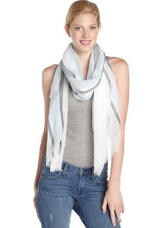 Gucci blue and white cotton sheer printed scarf