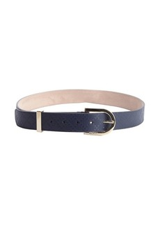 Gucci blue diamante leather belt