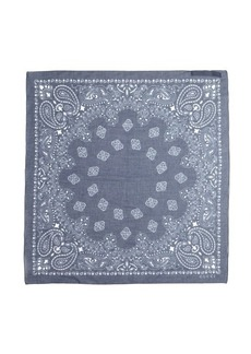 Gucci blue paisley print cotton square scarf