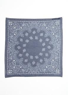 Gucci blue paisley print cotton square scarf