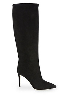 Gucci Brooke Suede Knee-High Boots