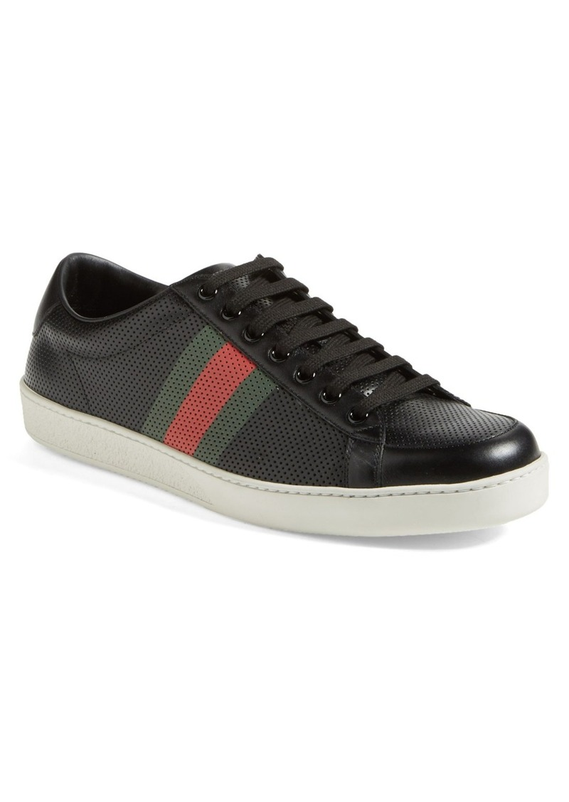 gucci gucci 39 brooklyn 39 perforated sneaker men shoes shop it to me. Black Bedroom Furniture Sets. Home Design Ideas