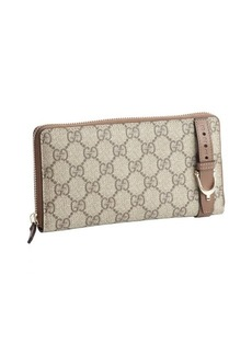 Gucci brown canvas GG 'Nice' continental wallet