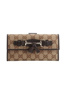 Gucci brown GG canvas 'Emily' continental wallet