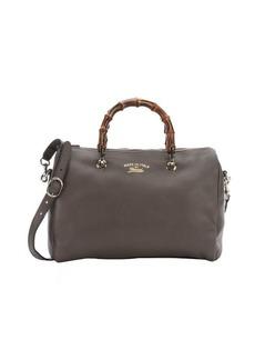 Gucci brown leather 'Bamboo Shopper Boston' bag