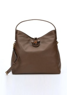 Gucci brown leather 'Hip Bamboo' shoulder bag