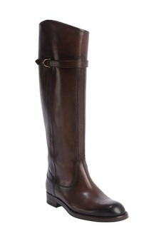 Gucci brown leather horsebit buckle boots
