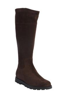 Gucci brown suede web stripe boots