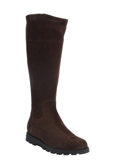Gucci brown suede web stripe boots
