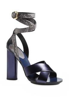 Gucci 'Candy' Genuine Python & Leather Sandal (Women)