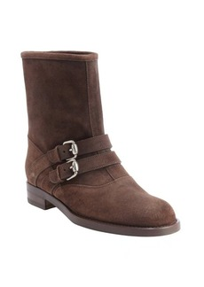 Gucci cocoa suede 'Margarett' flat boots