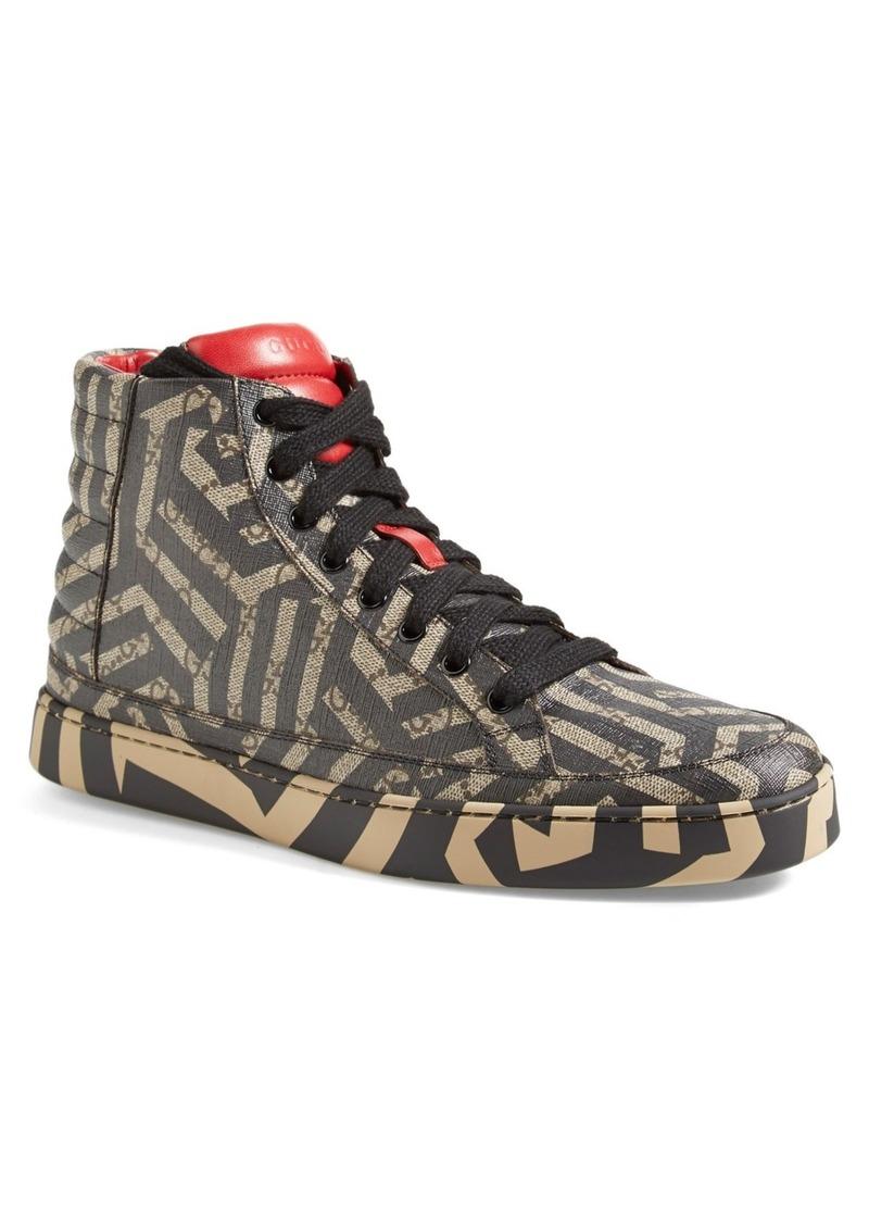 gucci gucci 39 common 39 high top sneaker men shoes shop it to me. Black Bedroom Furniture Sets. Home Design Ideas
