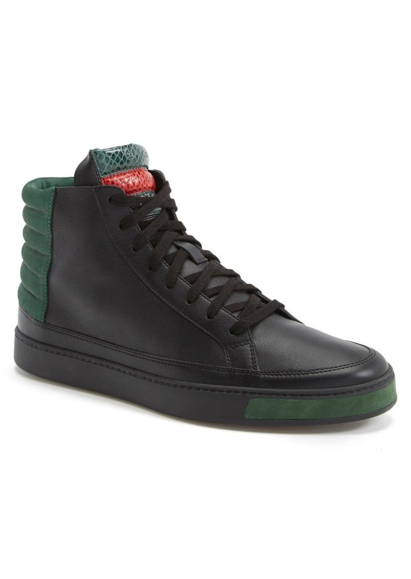 gucci gucci 39 common 39 high top sneaker men shoes shop. Black Bedroom Furniture Sets. Home Design Ideas