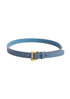 Gucci cornflower blue leather belt
