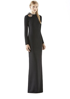 Gucci Crystal Knot Black Silk Gown