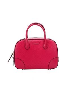 Gucci cyclamen diamante leather convertible top handle bag