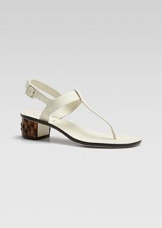 Gucci Dahlia Low Heel Thong Sandal