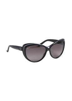 Gucci dark grey logo detailed sunglasses