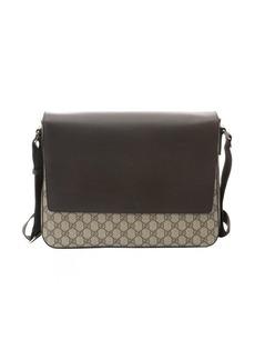 Gucci ebony and cocoa GG canvas messenger bag