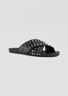 Gucci Flat Sandals - Hydra Studded Cross Band