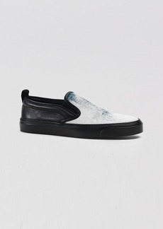 Gucci Flat Slip On Sneakers - Board Denim