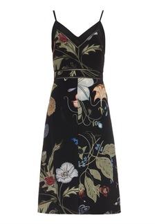 Gucci Floral Knight-print silk-cady dress