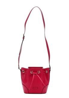 Gucci fuchsia diamante leather bucket bag