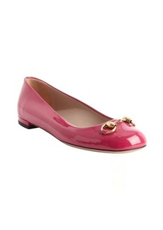 Gucci fuschia patent leather 'Jolene' ballet flats
