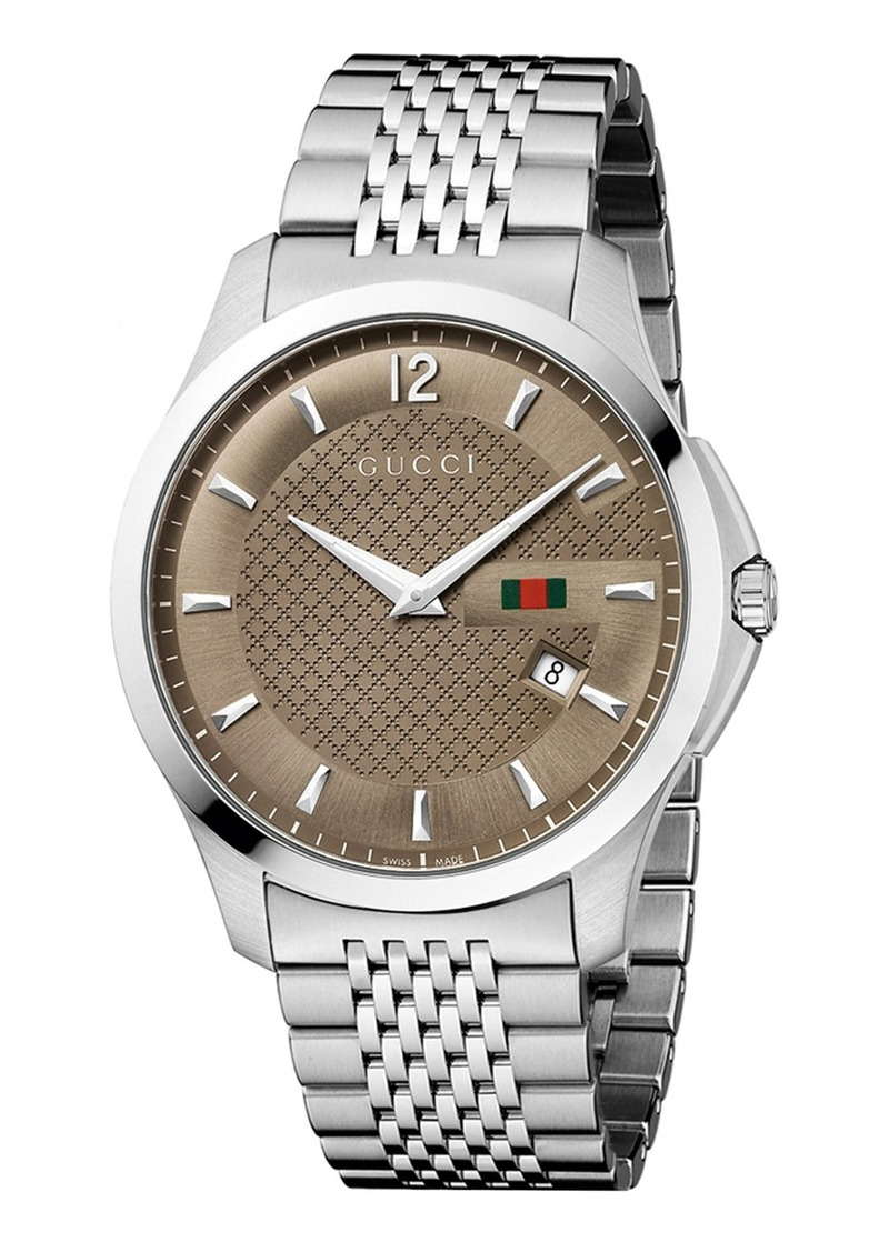 Gucci gucci 39 g timeless 39 bracelet watch 40mm regular retail price misc accessories for Retail price watches