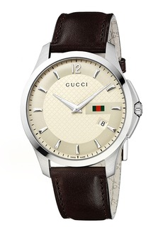 Gucci 'G Timeless' Leather Strap Watch, 40mm (Regular Retail Price: $950.00)