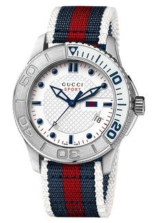 Gucci 'G Timeless' Nylon Strap Watch, 44mm (Regular Retail Price: $990.00)