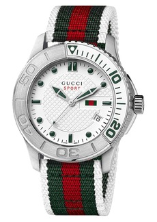 Gucci 'G Timeless' Nylon Strap Watch (Regular Retail Price: $990.00)