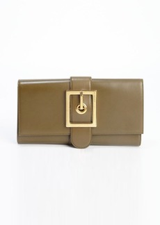 Gucci green leather 'Lady Buckle' clutch