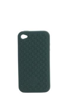 Gucci green silicone mircro gg iphone 4 cover