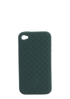 Gucci green silicone mircro gg iphone 4 cover