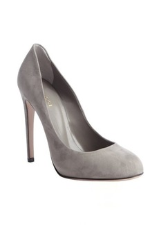 Gucci grey suede leather pumps