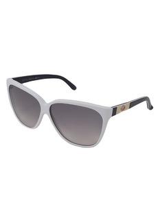 Gucci havana and grey 62mm oversized sunglasses