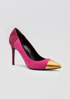 Gucci High Heel Cap Toe Pump - Coline