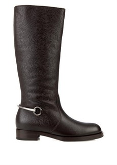 Gucci Horsebit leather riding boots