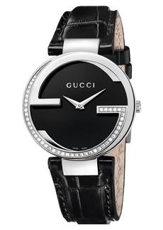 Gucci 'Interlocking G' Leather Strap Watch, 37mm (Regular Retail Price: $2,750.00)