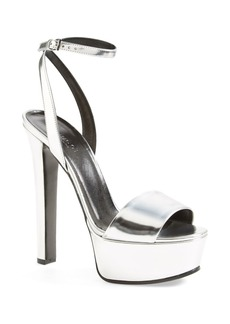 Gucci 'Leila' Metallic Platform Sandal (Women)