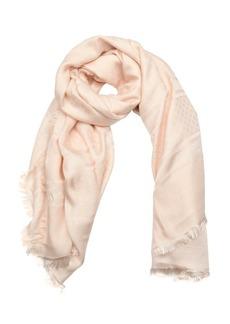 Gucci light pink GG jacquard silk woven shawl
