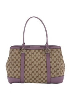 Gucci lilac and ebony GG canvas 'Miss GG' tote
