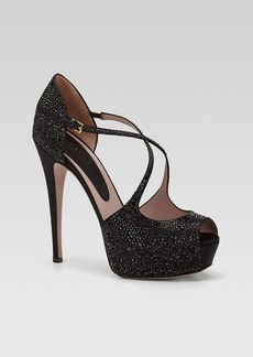 Gucci Lili Evening Platform Pump