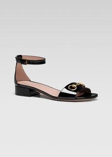 Gucci Liliane Flat Ankle Strap Sandal