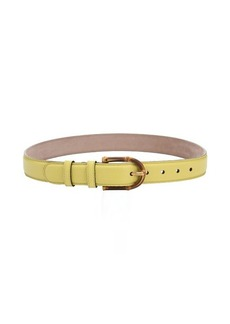 Gucci lime green leather bamboo buckle belt