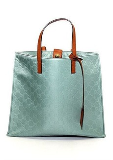 Gucci Logo Embossed Nylon Shopping Tote