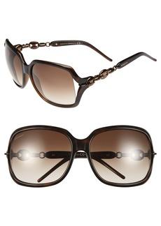 Gucci 'Marina Chain' 59mm Oversized Sunglasses