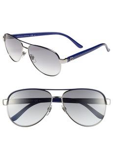 Gucci Metal 58mm Aviator Sunglasses
