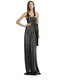 Gucci Metallic Side-Draped Gown